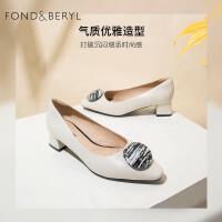 【减后价:295元】FONDBERYL商场同款女鞋2020秋季优雅方头浅口单鞋FB03111063