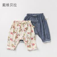 [2件3折价:47.1]戴维贝拉davebella女童裤子 春季新款洋气休闲舒适宝宝长裤