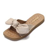 新款外穿平底H拖鞋女夏韩版一字拖凉鞋室外滑沙滩凉拖