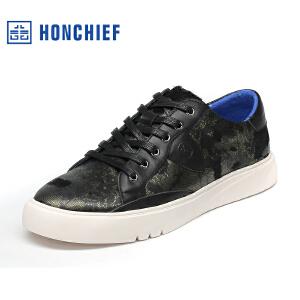 红蜻蜓旗下品牌  HONCHIEF 男鞋休闲鞋秋冬鞋子男板鞋KTA1106