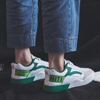 BANGDE超火运动鞋女2018秋季学生韩版厚底小白鞋原宿百搭板鞋子