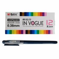 晨光62403全针管中性笔 0.38黑色/红色/晶蓝水笔 学生考试笔 12支