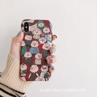 街拍猪插画XS Max/XR苹果X手机壳iPhoneX/6/7p/8Plus男女iphone6s