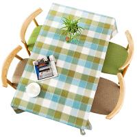 北欧布艺格子水桌布茶几餐桌布台垫文艺长方形书桌棉麻桌垫家用定制 130*240 cm