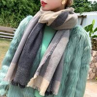 上海故事围巾男女秋冬季韩版百搭简约羊毛男士生日礼物保暖围脖披肩