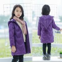 儿童羽绒服女童中长款加厚童装中大童冬装棉衣外套