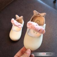 女童鞋公主鞋女宝宝真皮单鞋0-1-2岁半小童皮鞋软底儿童春秋鞋子