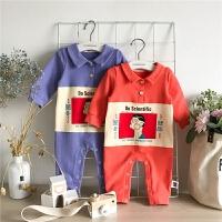 婴儿连体衣春秋款3-6-12个月男宝宝长袖连体衣女儿衣服外