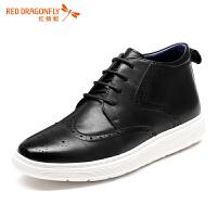 红蜻蜓男鞋休闲皮鞋秋冬休闲鞋子男板鞋WTA6611