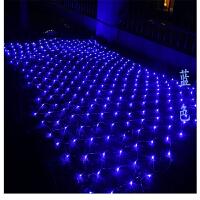 LED彩灯闪灯渔网灯圣诞防水装饰窗帘灯网状背景灯网灯