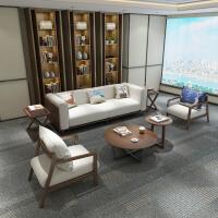 北欧布艺沙发组合日式客厅沙发转角 客厅整装实木转角现代简约风格日式布艺 组合
