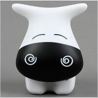 牛牛LED充电台灯 创意心情嘟嘟牛 眯眼简约卧室床头灯具