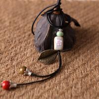 原创陶瓷民族风长款复古项链 手工瓷珠女饰品