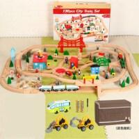 托小火马车斯木质磁性轨道套装儿童拼搭木头轨道电动玩具火车 官方标配