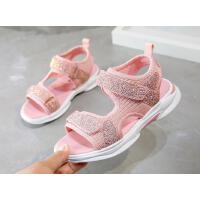 女童凉鞋夏季时尚休闲百搭中大童沙滩鞋儿童鞋子软底