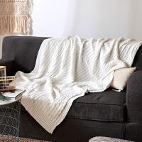 针织毯单人双人棉沙发毛毯办公室午休空调盖毯午睡休闲毯子