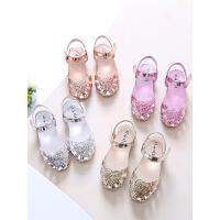 女童凉鞋夏季公主鞋包头凉鞋小孩鞋儿童凉鞋沙滩防滑鞋