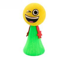 弹跳小人 可爱小孩创意新奇表情娃娃塑料整蛊小人玩偶好玩儿童玩具礼物 小号绿色 2g