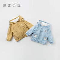 davebella戴维贝拉2020春季新款男童外套宝宝卡通上衣DBJ13522