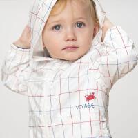davebella戴维贝拉2020春装新款男童外套宝宝格子纹外套DBX13161