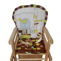 婴儿餐椅用坐垫 小孩靠背套带安全带宝宝椅套布套儿童餐椅座套y 33x38x70cm