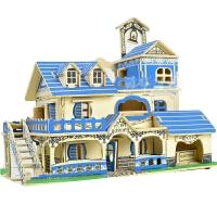 拼装玩具木板 智力木板3d立体拼图7-10岁男孩子木质积木制模型拼图玩具