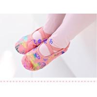 新款金色蝴蝶儿童舞蹈鞋女童芭蕾舞鞋猫爪鞋帆布练功鞋跳舞鞋