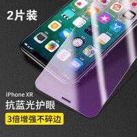 iPhoneXR钢化膜苹果XR手机膜iphone XR全屏覆盖iPhone X防6D防窥蓝光背膜 苹果 XR(抗蓝光双