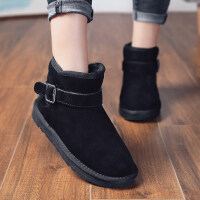 雪地靴女2018新款冬季短筒百搭保暖棉鞋豆豆鞋平底