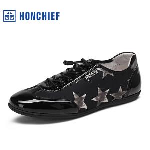 红蜻蜓旗下品牌  HONCHIEF男鞋休闲鞋秋冬鞋子男板鞋KZA7101
