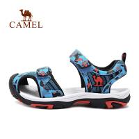 camel骆驼户外儿童款沙滩鞋 春夏新款青少防撞防滑沙滩凉鞋