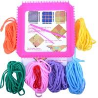 儿童幼儿园手工DIY制作 布艺钱包彩虹编织机织布机橡皮筋女孩玩具 手工DIY 女宝必入