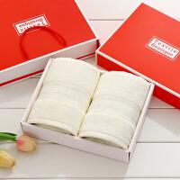 毛巾礼盒双条装毛巾2条装生日寿宴结婚伴手回礼品团购定制log Y 浅 33x74cm