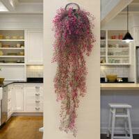 仿真植物花藤假花藤条塑料藤蔓绿植客厅室内墙面吊篮壁挂墙壁装饰