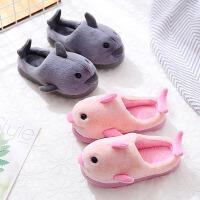 儿童棉拖鞋冬女保暖厚底防滑室内软底宝宝拖鞋一家三口毛