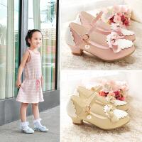 儿童女童时尚公主鞋粉色高跟单鞋