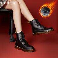 女士马丁靴女春季新款时尚潮流休闲女士马丁靴女英伦风短靴ins网红