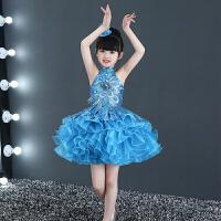 幼儿园表演服装女孩舞蹈纱裙夏儿童节演出服女童公主裙蓬蓬裙