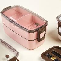 日本象普上班族可微波炉便当盒学生餐盒可爱减脂分隔健身便携套装1000ml
