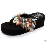 时尚简约厚底凉拖鞋拖鞋防滑夹趾人字拖女韩版学生松糕沙滩鞋