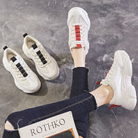 ZHR2019春季新款韩版智熏鞋平底网红老爹鞋女超火山本学生休闲鞋