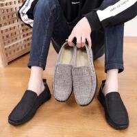 老北京布鞋男休闲鞋中年爸爸鞋轻便软底透气韩版懒人男士单鞋