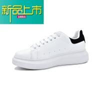 新品上市春季小白鞋男厚底鞋子男潮鞋内增高新款休闲鞋透气大码板鞋男
