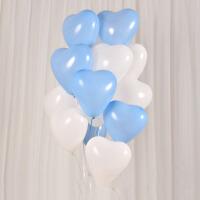 结婚礼婚房装饰品婚庆浪漫房间布置心形气球生日派对求婚心型套餐