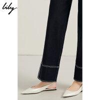 Lily夏简约白色漆皮尖头平底鞋后空凉鞋女119210JZ407