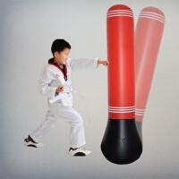 健身儿童拳击不倒翁充气沙袋加厚玩具充气拳击柱发泄送充气泵 1.5米红色 送健身手套