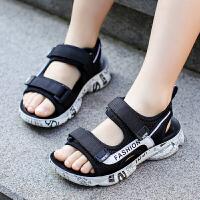 儿童凉鞋男夏季中大童男童凉鞋学生软底防滑沙滩鞋