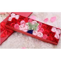 520情人节礼物 33朵玫瑰香皂花礼盒礼品送女友实用生日礼物