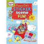 现货 英文原版 儿童读物 poppy cat's sticker scene fun