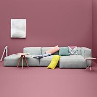 北欧布艺沙发组合日式客厅沙发转角 北欧现代客厅整装转角羽绒乳胶日式简约三人位组合软沙发